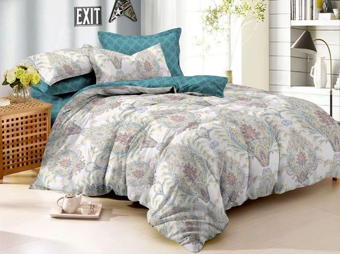 Комплект белья Soft Line, 1,5 спальный, наволочки 50x70. 0614406144Постельное белье SL из сатина с декоративной отделкой.