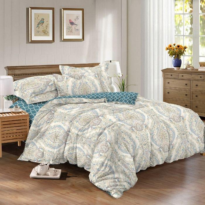 Комплект белья Soft Line, семейный, наволочки 50x70. 0615906159Постельное белье SL из сатина с декоративной отделкой.