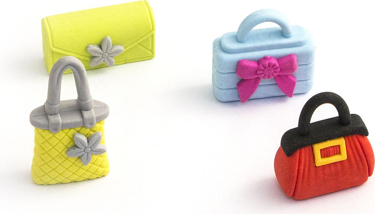 Эврика Набор ластиков Сумки 4 шт98626Набор ластиков в виде маленьких цветных сумочек - отличный подарок юным модницам - хватит и самой покрасоваться, и с подружками поделиться. Скучная школьная или домашняя работа в тетради станет веселей, если в пенале окажется миниатюрный модный аксессуар. Материал: полирезина Упаковка: блистер на картоне Размеры одного ластика порядка 3х3х1 см Размеры упаковки: Размер (см):18x7x2 Товар реализуется упаковкой из 4х ластиков. Bec : 70 граммов