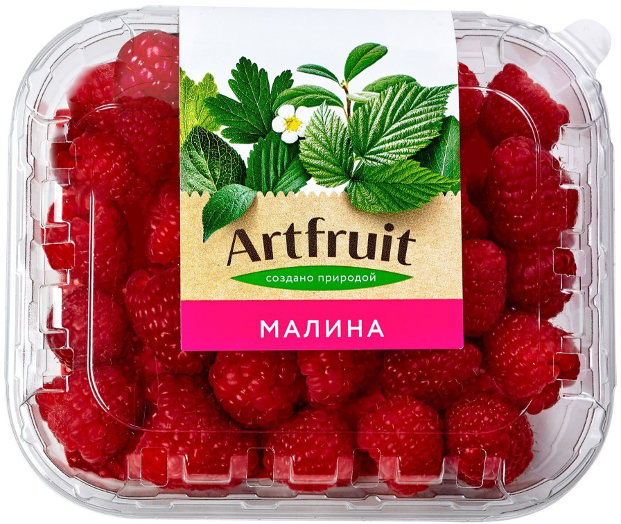 Artfruit Малина свежая, 125 г салат мизуна 125 г