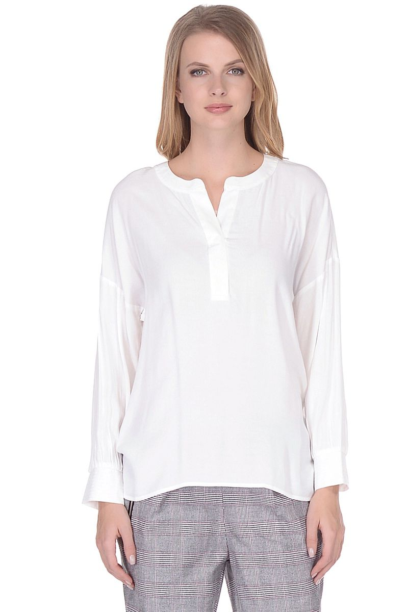 Блузка женская Baon, цвет: белый. B178006_Milk. Размер L (48)B178006_Milk