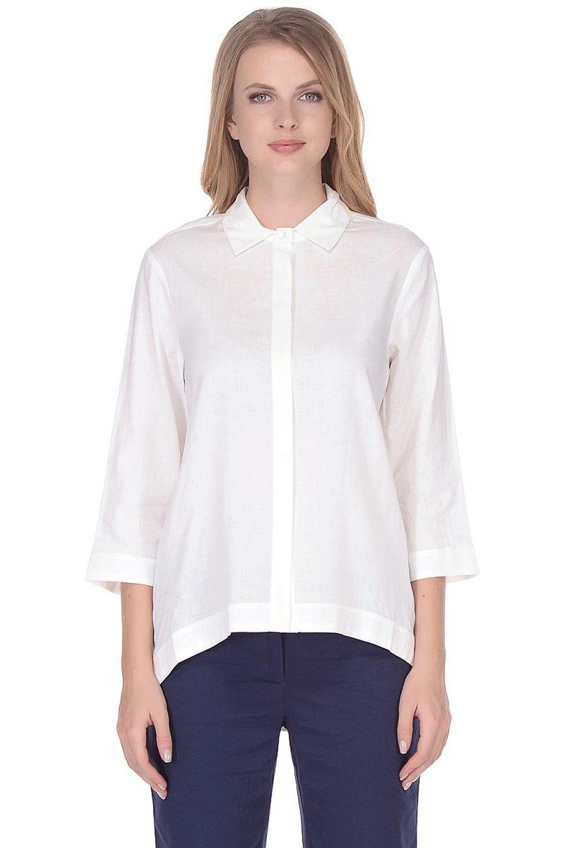 Купить Блузка женская Baon, цвет: белый. B178035_White. Размер M (46)