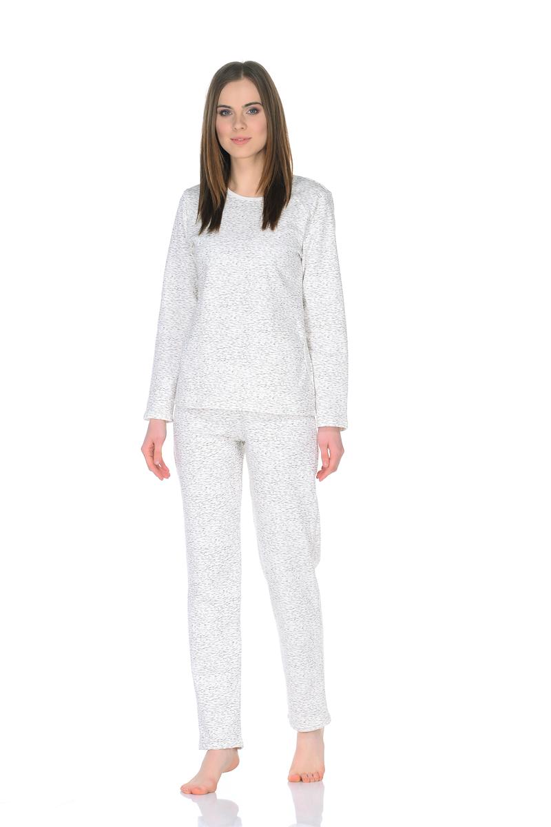 Пижама женская Letto, цвет: молочный. TFpl010. Размер 48 пижама женская элли