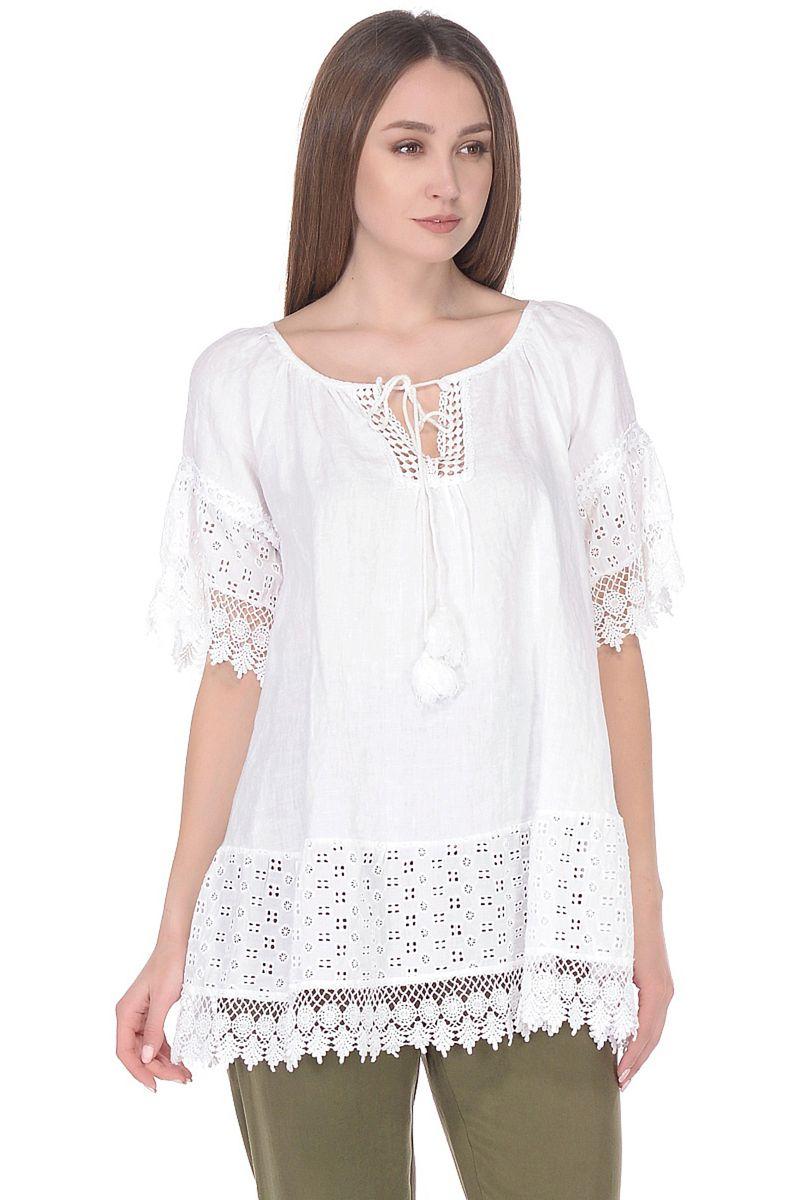 Купить Блузка женская Baon, цвет: белый. B178046_White. Размер M (46)