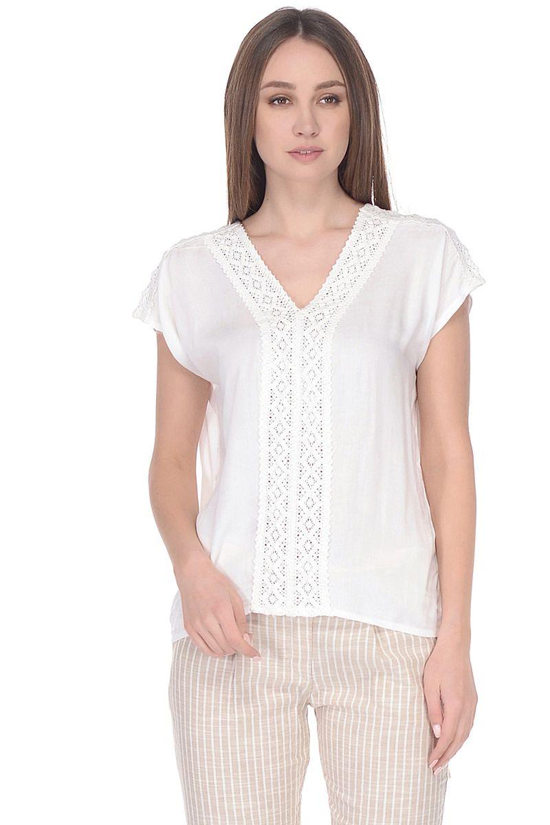 Купить Блузка женская Baon, цвет: белый. B198062_White. Размер M (46)