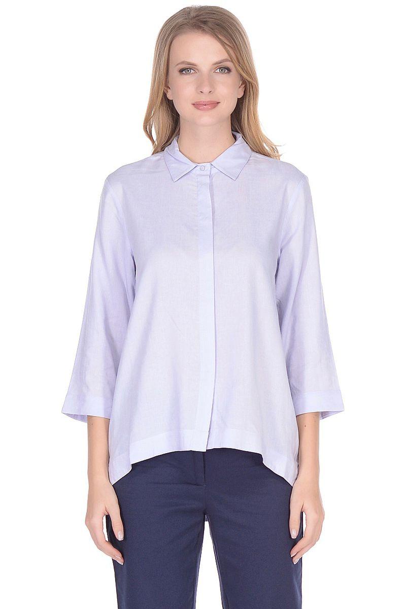 Блузка женская Baon, цвет: голубой. B178035_Xenon. Размер XL (50) кардиган женский baon цвет черный b147505 black размер xl 50