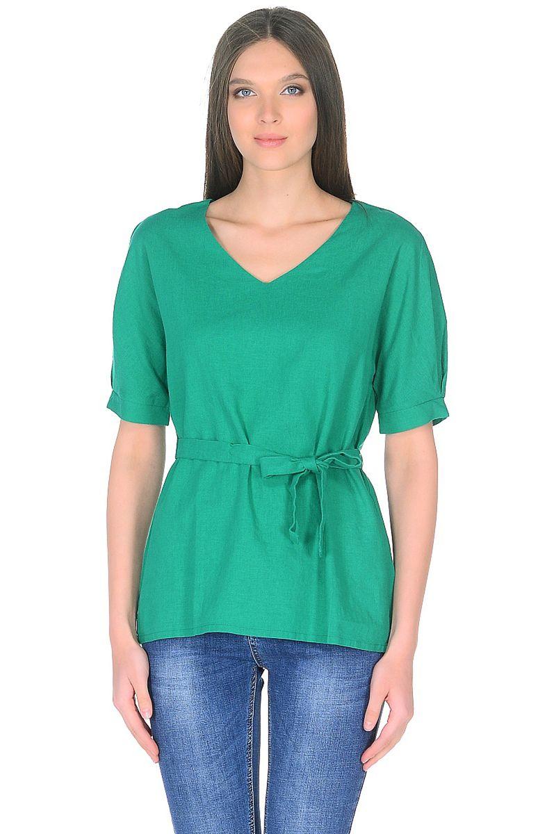 Купить Блузка женская Baon, цвет: зеленый. B198028_Cactus. Размер M (46)