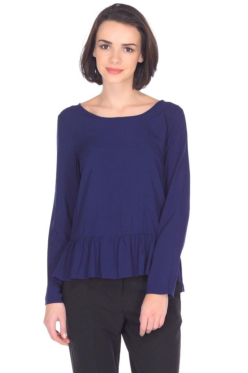 Блузка женская Baon, цвет: синий. B178058_Dark Navy. Размер XL (50) куртка женская baon цвет черный b037517 black размер xl 50
