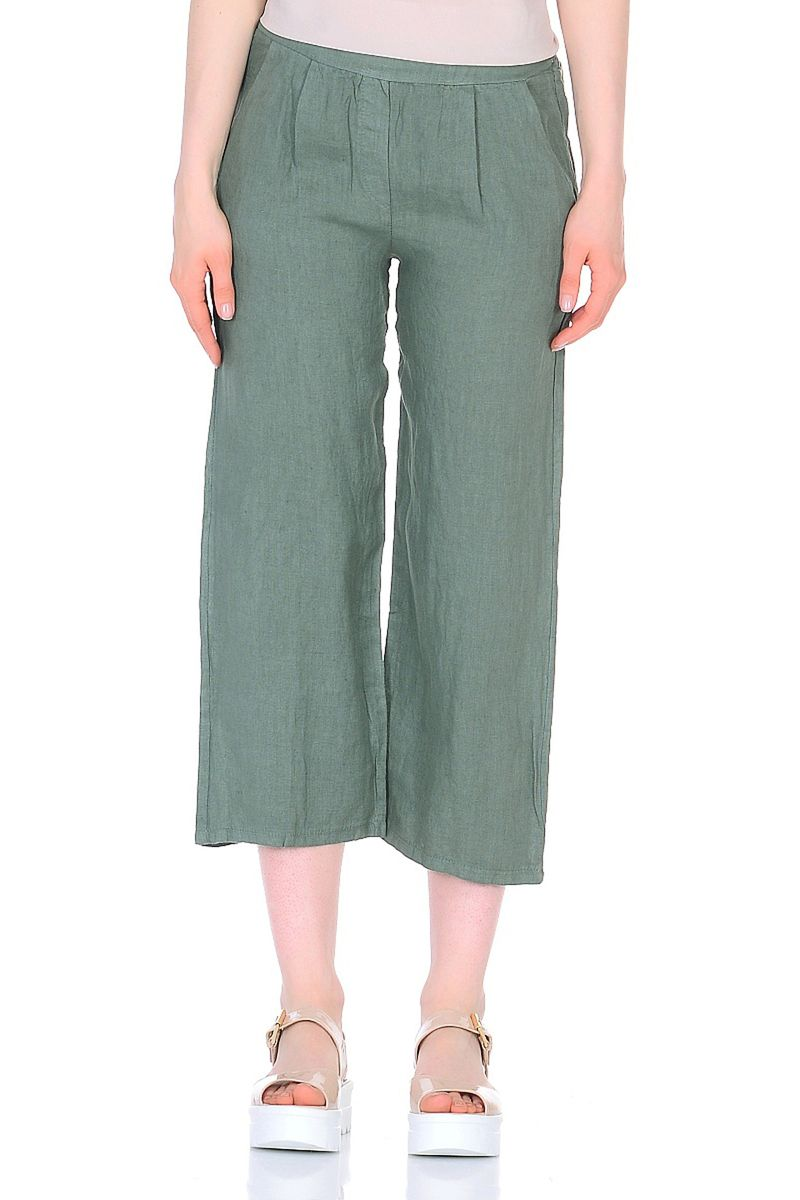 Брюки женские Baon, цвет: зеленый. B298036_Pale Forest. Размер XL (50)B298036_Pale Forest
