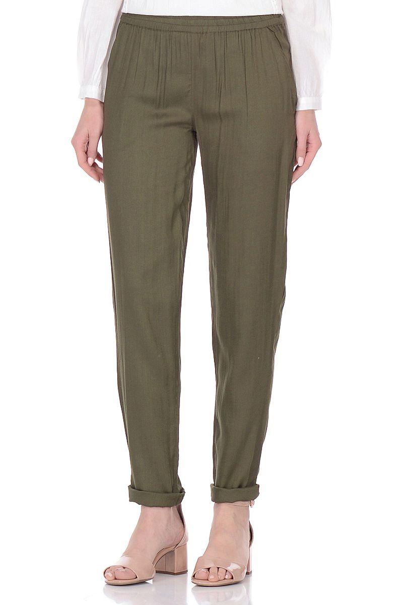 Брюки женские Baon, цвет: зеленый. B298047_Dry Moss. Размер S (44) жилет мужской baon цвет зеленый b658201 moss размер xxl 54