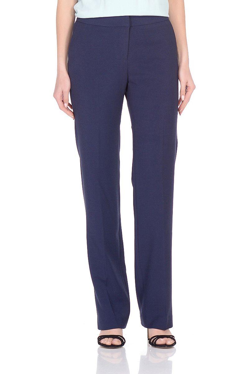 Брюки женские Baon, цвет: синий. B298008_Dark Navy. Размер XXL (52) прямые широкие женские зимние брюки