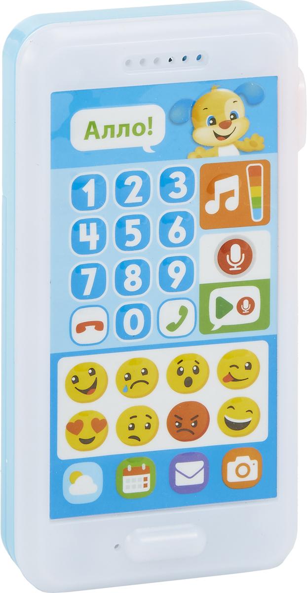 Fisher-Price Развивающая игрушка Смейся и учись Телефон Ученого щенка развивающая игрушка fisher price смейся и учись интерактивный стульчик 12 мес cjh63