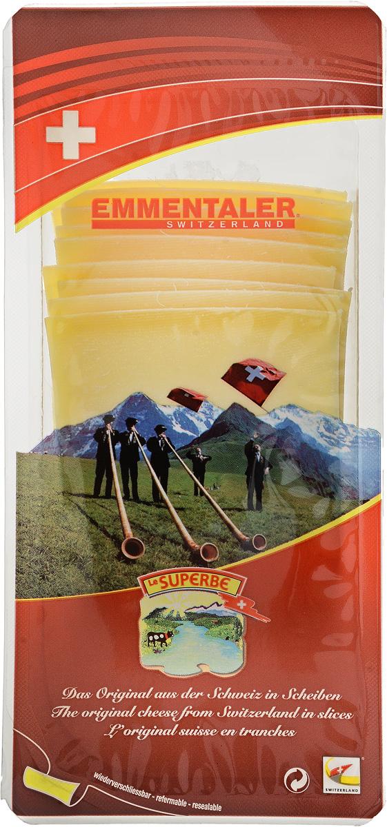 Le Superb Сыр Эмменталлер нарезка, 150 г чизолини сыр чечил копченый 150 г