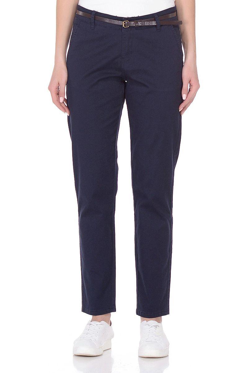 Брюки женские Baon, цвет: темно-синий. B298046_Dark Navy. Размер L (48) брюки женские baon цвет синий деним b297030 light blue denim размер l 48