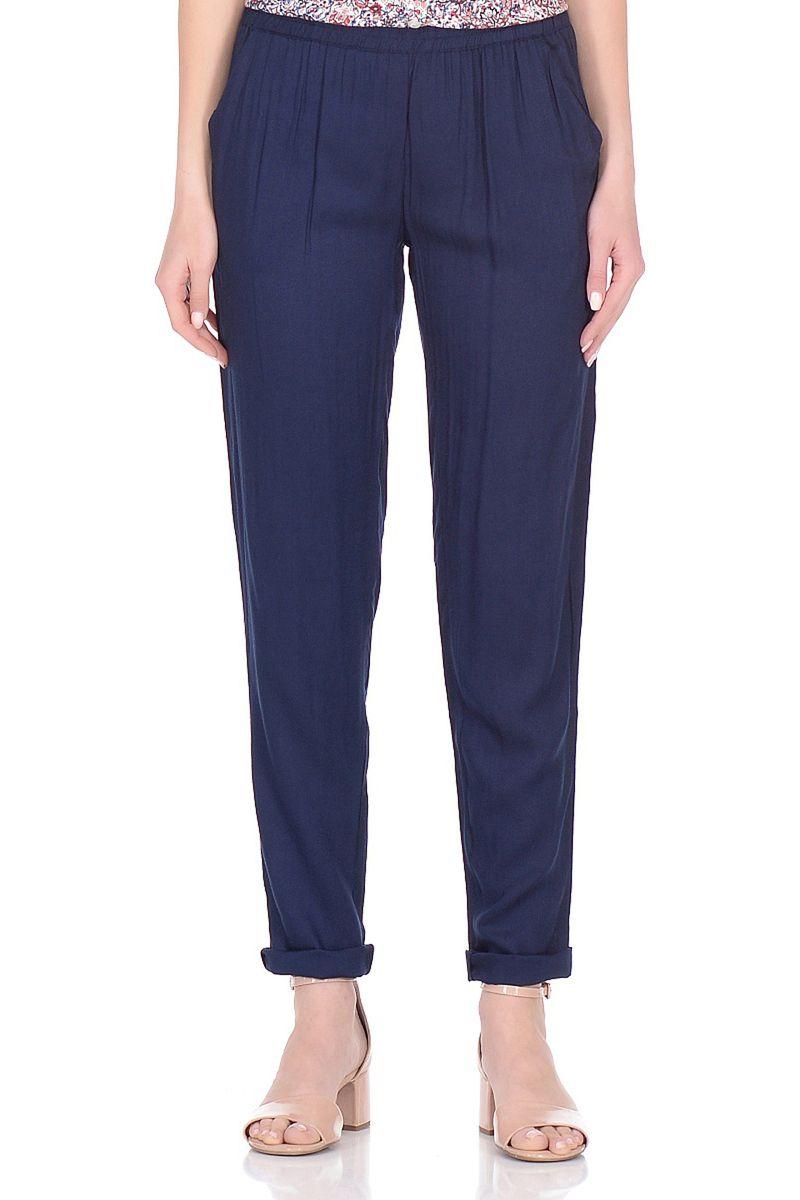 Брюки женские Baon, цвет: синий. B298047_Dark Navy. Размер XL (50) кардиган женский baon цвет черный b147505 black размер xl 50