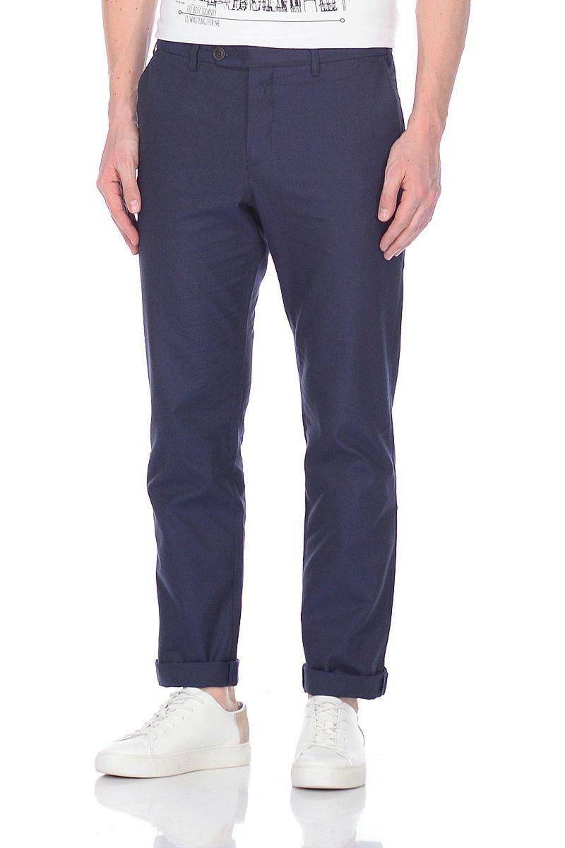 Брюки мужские Baon, цвет: синий. B798005_Deep Navy Checked. Размер S (46)B798005_Deep Navy Checked