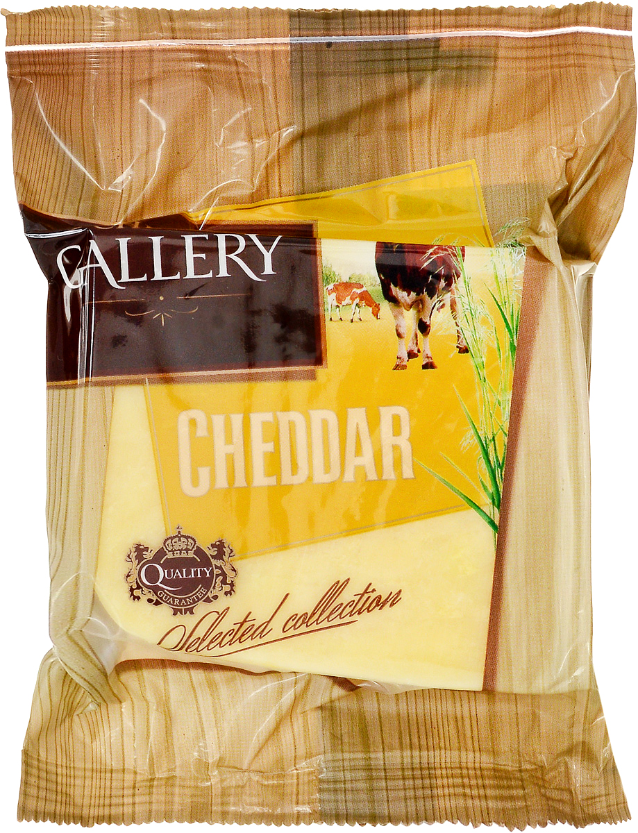 Cheese Gallery Сыр Чеддер, 50%, 250 г cheese gallery parmesan крем сыр 150 г