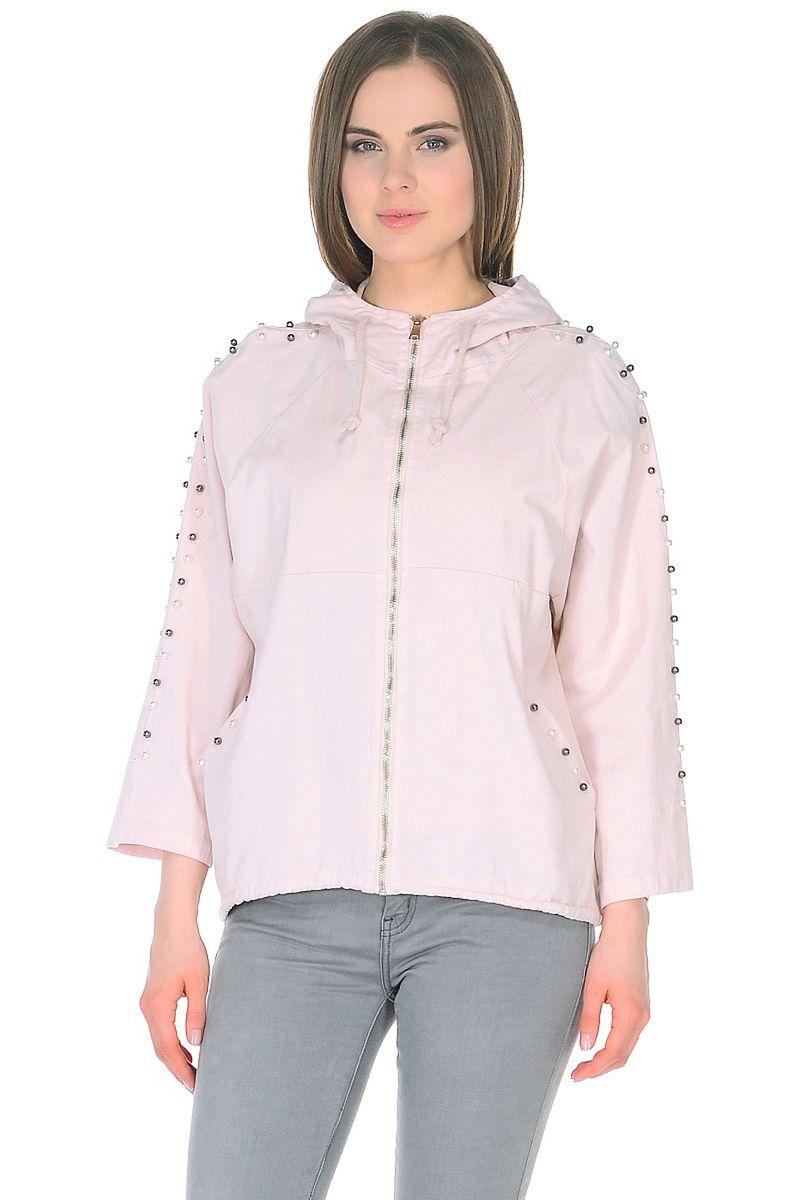 Ветровка женская Baon, цвет: розовый. B108026_Pearl. Размер XL (50) кардиган женский baon цвет черный b147505 black размер xl 50