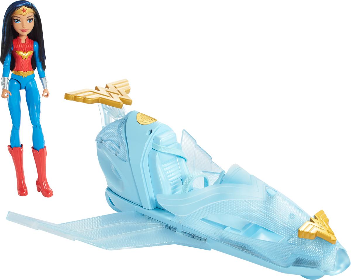 DC Super Hero Girls Игровой набор с куклой Чудо-женщина + самолет-невидимка