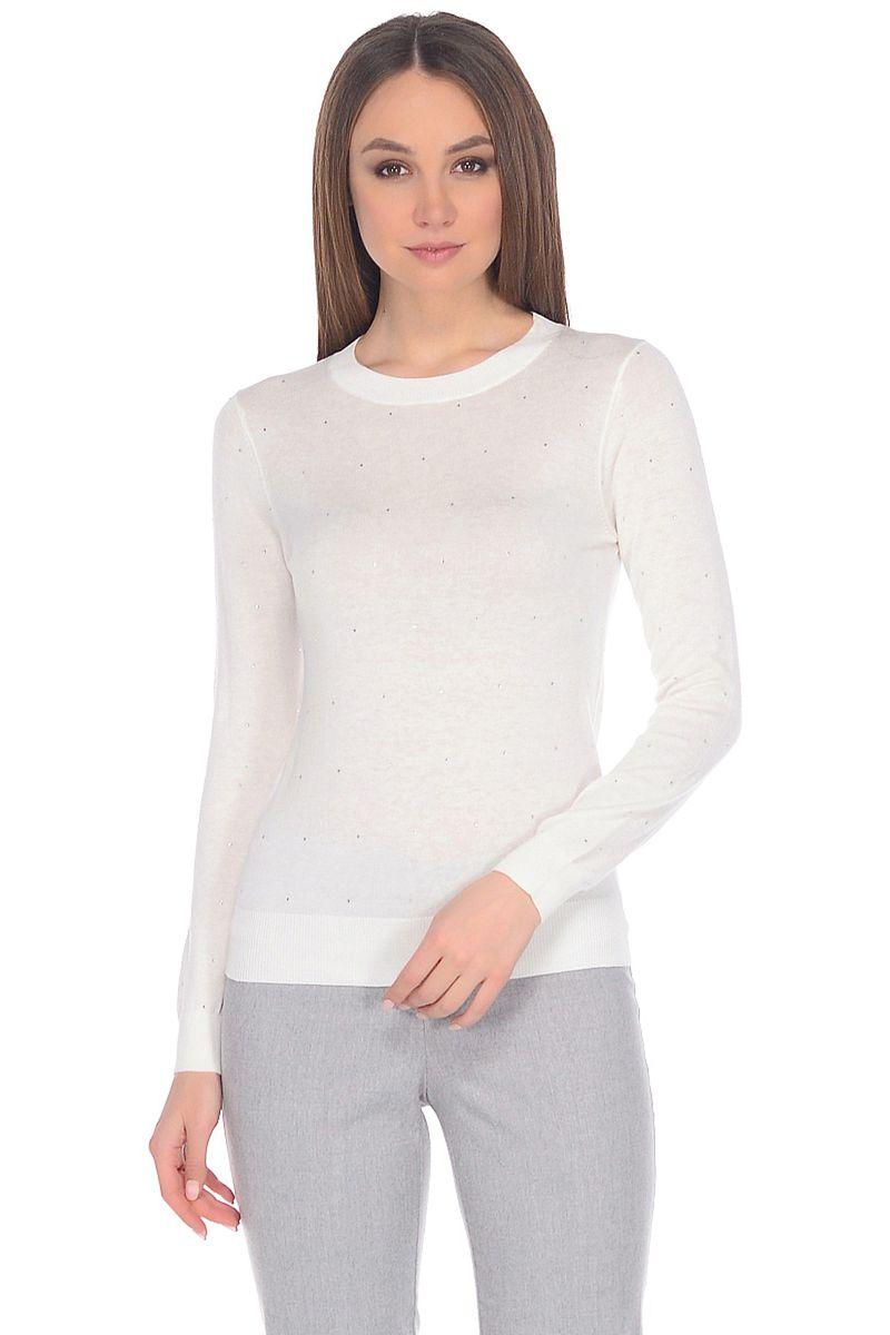 Джемпер женский Baon, цвет: белый. B138027_Milk. Размер XL (50) кардиган женский baon цвет черный b147505 black размер xl 50