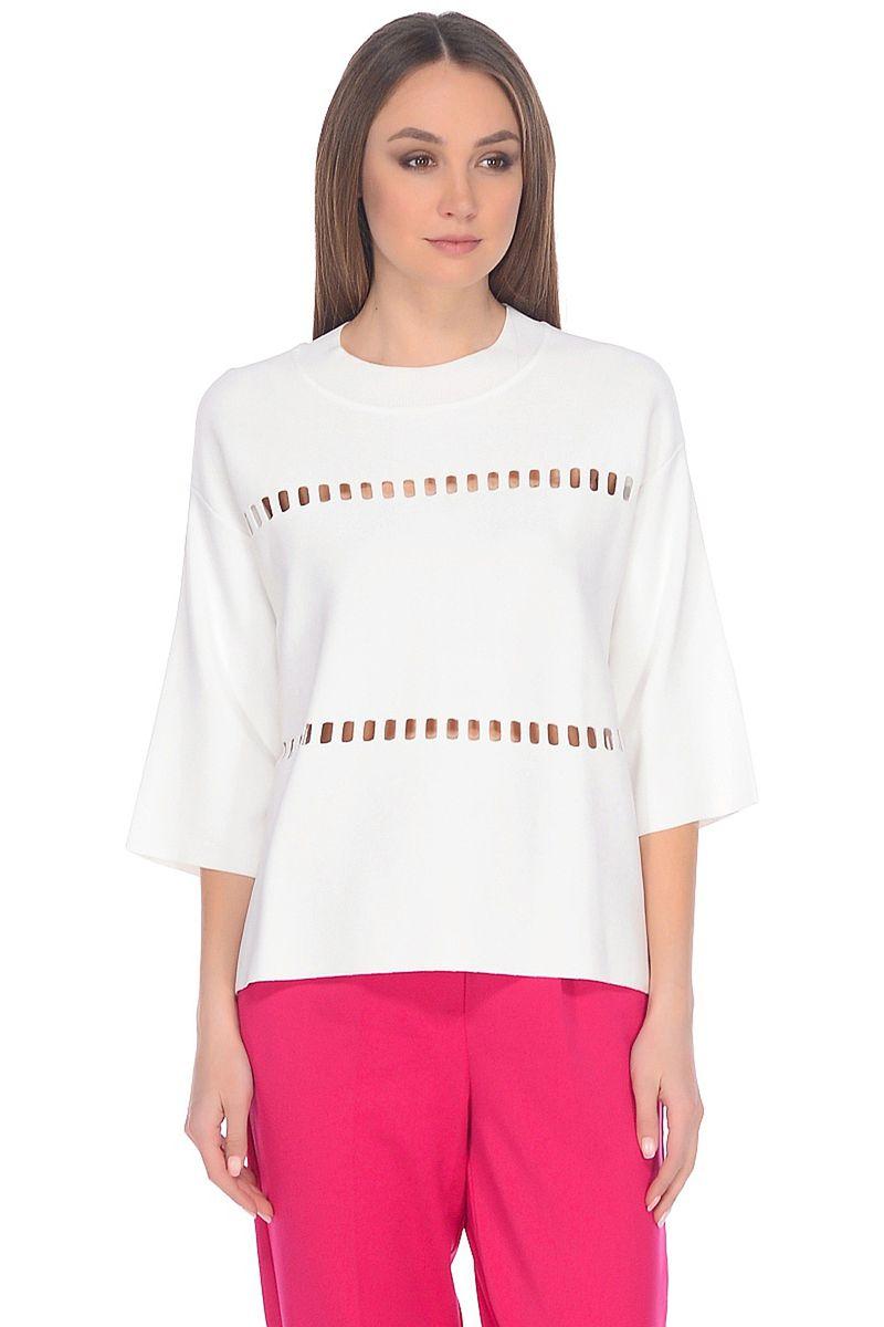Джемпер женский Baon, цвет: белый. B138028_Milk. Размер M (46)B138028_Milk