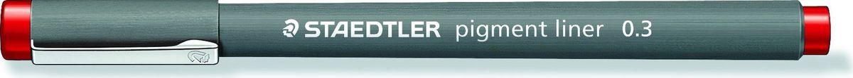 Staedtler Ручка капиллярная Pigment Liner 308 0,3 мм цвет чернил красный -  Ручки