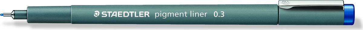 Staedtler Ручка капиллярная Pigment Liner 308 0,3 мм цвет чернил синий -  Ручки