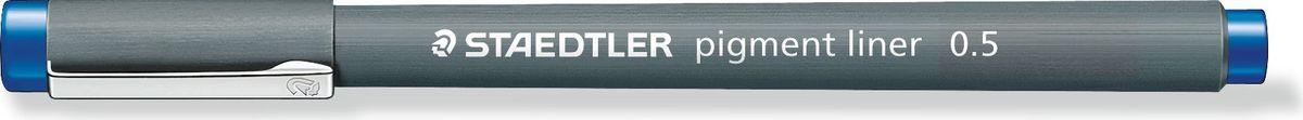 Staedtler Ручка капиллярная Pigment Liner 308 0,5 мм цвет чернил синий30805-3Капиллярная ручка серии pigment liner 308. Цвет синий. Толщина линии - 0,5 мм. Капиллярные ручки 308 серии идеальны для письма, рисования, набросков и черчения. Идеальны для Хобби и творчества. Удлиненный металлический узел идеален для работы с линейками и шаблонами. Пигментные чернила, несмываемые, свето- и водоустойчивые. Стирается с кальки, не размазывается при выделении текстовыделителем. Можно оставить без колпачка на 18 часов и не опасаться высыхания. Корпус из пропилена гарантирует долгий срок службы.