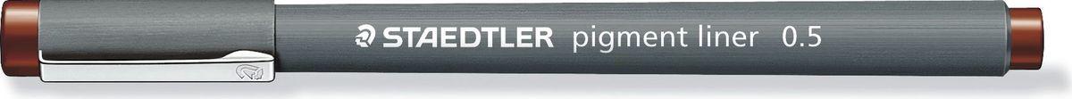 Staedtler Ручка капиллярная Pigment Liner 308 0,5 мм цвет чернил коричневый -  Ручки