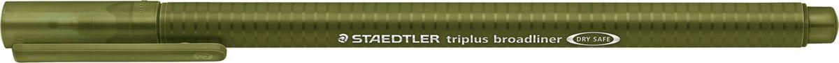 Staedtler Ручка капилярная Triplus 338 0,8 мм цвет чернил зеленый338-57Капиллярная ручка серии triplus broadliner 338, цвет - зеленый оливковый. Толщина линии - 0,8 мм. Эргономичная трехгранная форма для удобного и легкого письма. Пишущий узел завальцован в металл. Защита от высыхания - может быть оставлен без колпачка на несколько дней (тест ISO). Чернила на водной основе. Отстирывается с большинства тканей. Корпус из полипропилена гарантирует долгий срок службы. Идеальна как для письма, так и для раскрашивания, рисования.