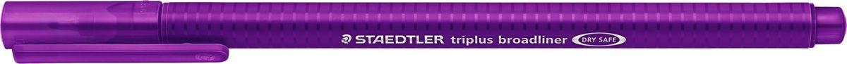 Staedtler Ручка капилярная Triplus 338 0,8 мм цвет чернил фиолетовый338-6Капиллярная ручка серии triplus broadliner 338, цвет - фиолетовый. Толщина линии - 0,8 мм. Эргономичная трехгранная форма для удобного и легкого письма. Пишущий узел завальцован в металл. Защита от высыхания - может быть оставлен без колпачка на несколько дней (тест ISO). Чернила на водной основе. Отстирывается с большинства тканей. Корпус из полипропилена гарантирует долгий срок службы. Идеальна как для письма, так и для раскрашивания, рисования.