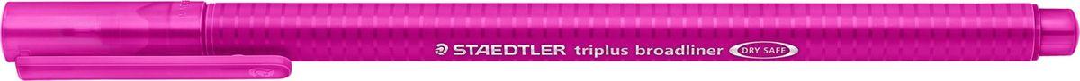 Капиллярная ручка серии triplus broadliner 338, цвет - красно-фиолетовый. Толщина линии - 0,8 мм. Эргономичная трехгранная форма для удобного и легкого письма. Пишущий узел завальцован в металл. Защита от высыхания - может быть оставлен без колпачка на несколько дней (тест ISO). Чернила на водной основе. Отстирывается с большинства тканей. Корпус из полипропилена гарантирует долгий срок службы. Идеальна как для письма, так и для раскрашивания, рисования.