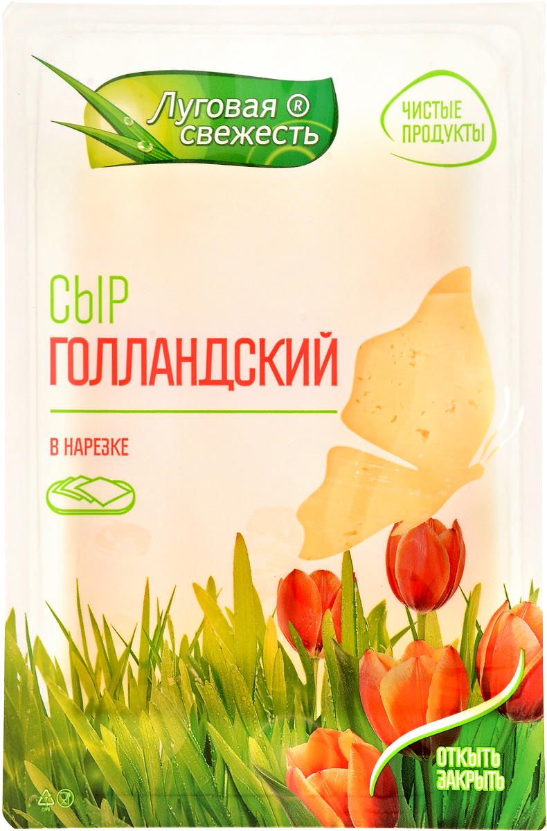 Луговая Свежесть Сыр Голландский, 45%, нарезка, 125 г луговая свежесть сыр сливочный 50% 225 г