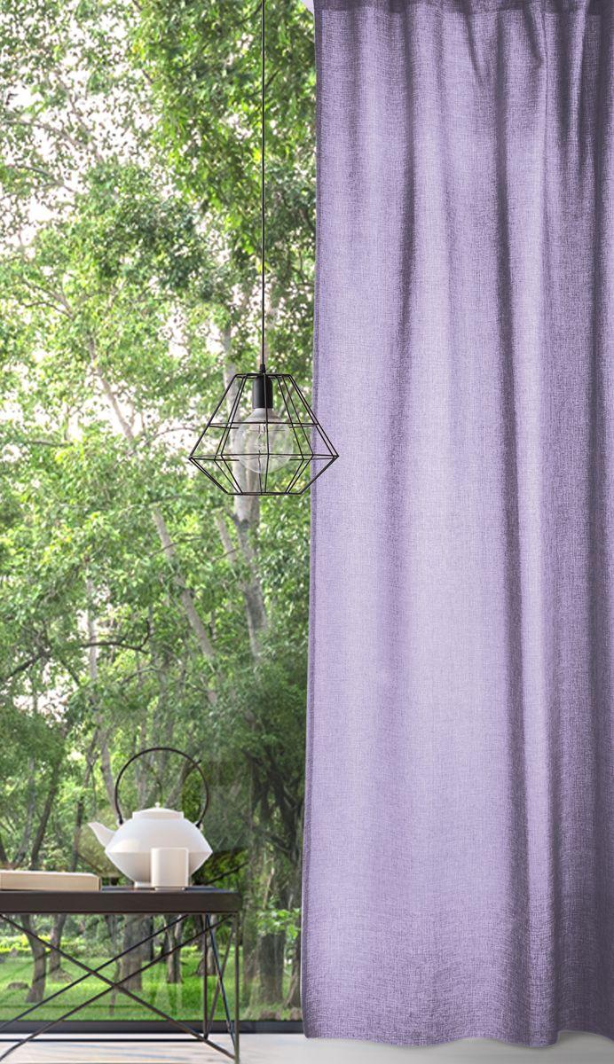 Комплект штор Волшебная ночь, цвет: фиолетовый, высота 270 см. 721878721878Рогожка - коллекция штор с эффектом натурально льна, отражающая тренд к натуральности и естественности. Комплект из 2-х однотонных штор за счет сдержанности цветовой гаммы подойдет практически к любому интерьеру.Материал повторяет структуру ткани из натурального льна, но обладает дополнительными полезными свойствами: высокая износостойкость, прочность, устойчивость к запахам.Дизайн штор обеспечивает сама фактура ткани и меланжевая нить (неровный окрас пряжи).Комплект упакован в абсолютно эксклюзивную упаковку-сумку на молнии, которая выполнена из того же материала, что и сами шторы. Не только модный, но и функциональный аксессуар, будет служить вам и после покупки.