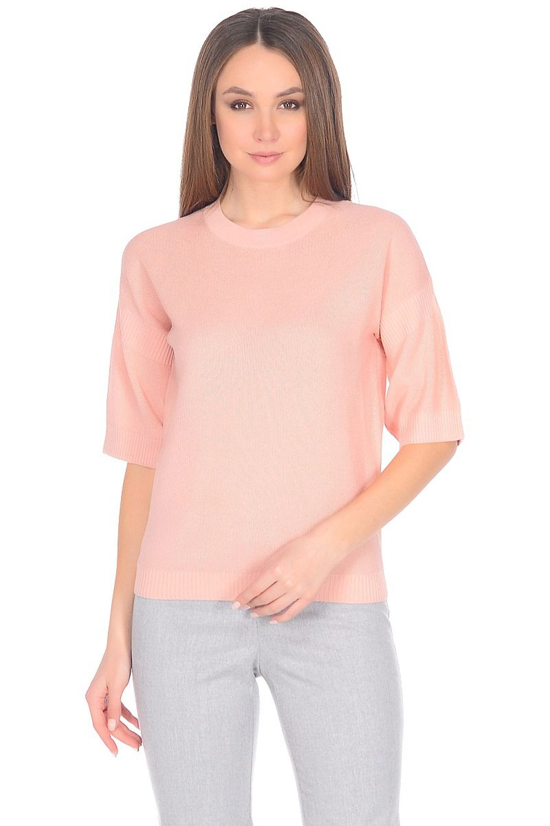 Джемпер женский Baon, цвет: розовый. B138011_Lotus. Размер XL (50) кардиган женский baon цвет черный b147505 black размер xl 50
