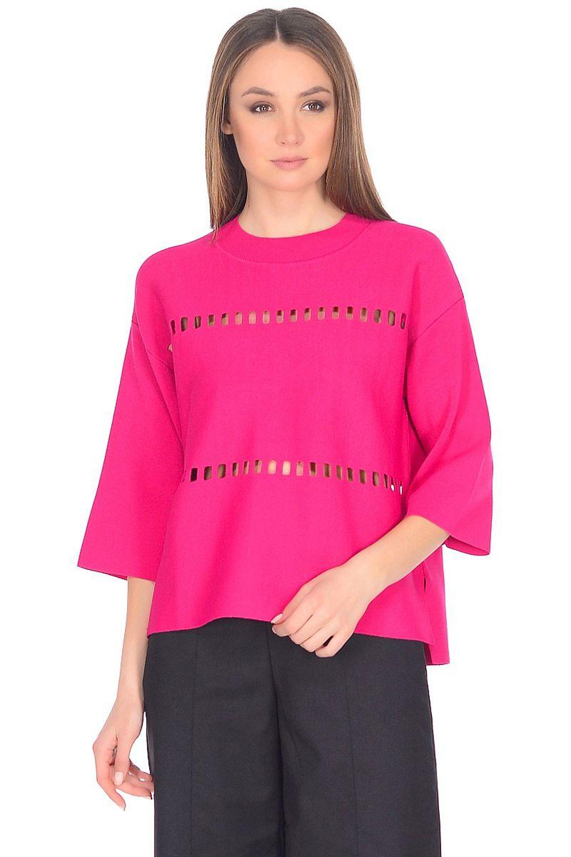 Джемпер женский Baon, цвет: розовый. B138028_Azalea. Размер L (48)B138028_Azalea