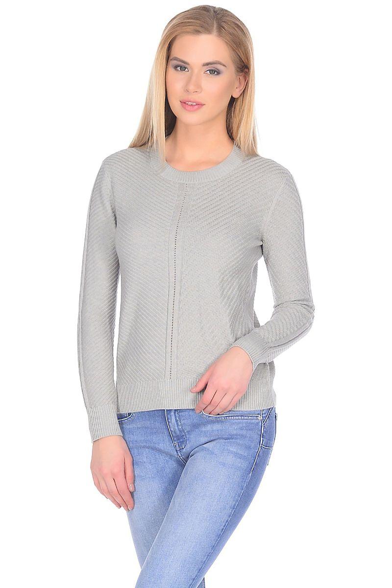 Джемпер женский Baon, цвет: серый. B138002_Silver Melange. Размер XL (50) кардиган женский baon цвет черный b147505 black размер xl 50