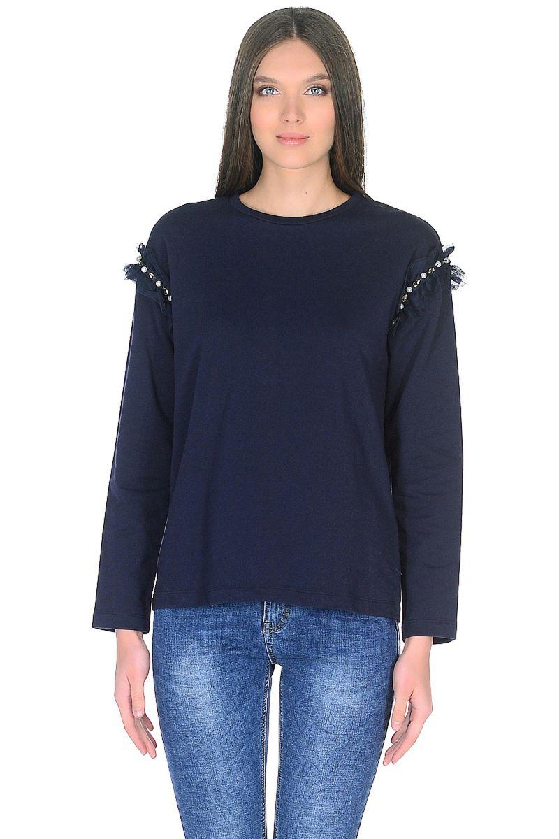 Джемпер женский Baon, цвет: синий. B118001_Dark Navy. Размер L (48) комбинезон женский baon цвет темно синий b498023 dark navy размер l 48