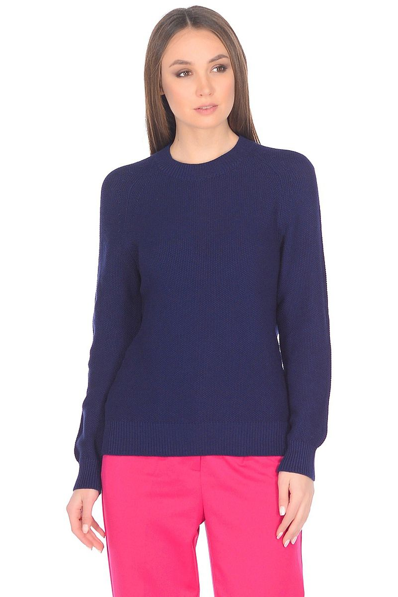 Джемпер женский Baon, цвет: синий. B138001_Dark Navy. Размер XL (50) кардиган женский baon цвет черный b147505 black размер xl 50