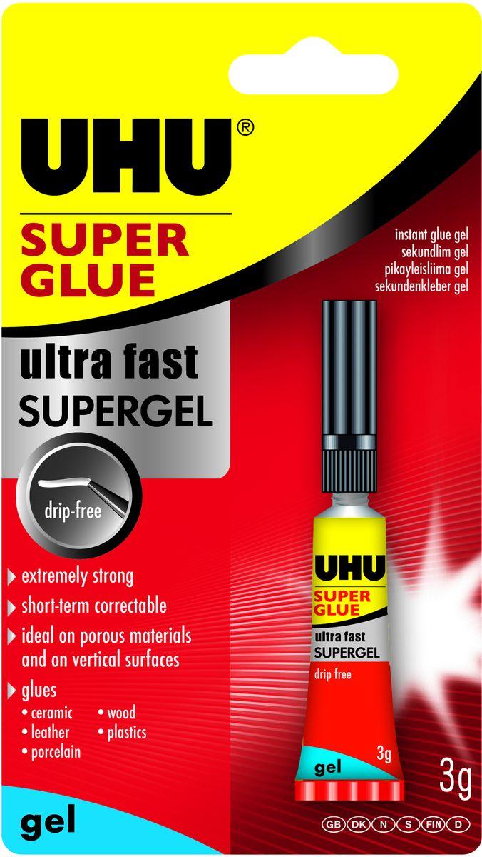 UHU Клей универсальный Super Glue Gel 3 г клей канцелярский uhu glue pen 50 мл