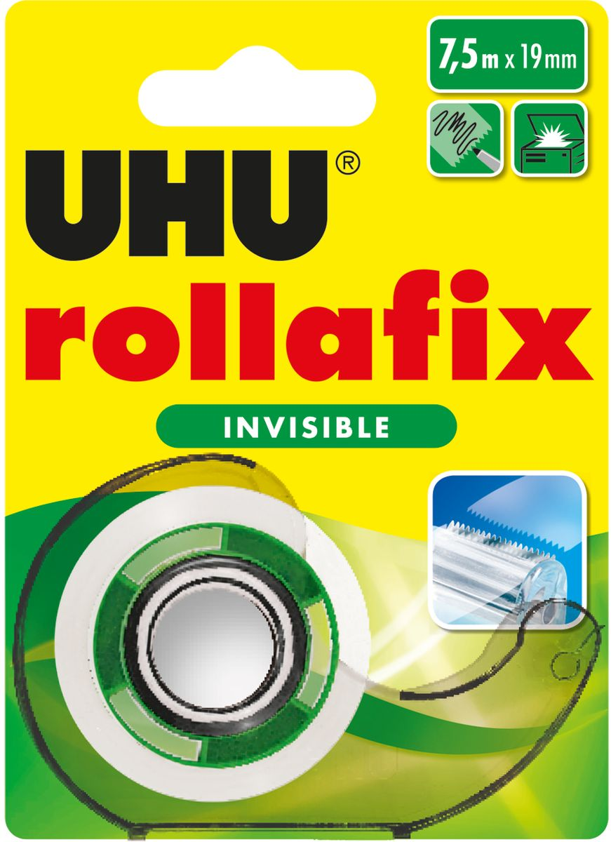 UHU Клеящая лента Rollafix Invisible невидимая 19 мм х 7,5 м -  Клейкая лента
