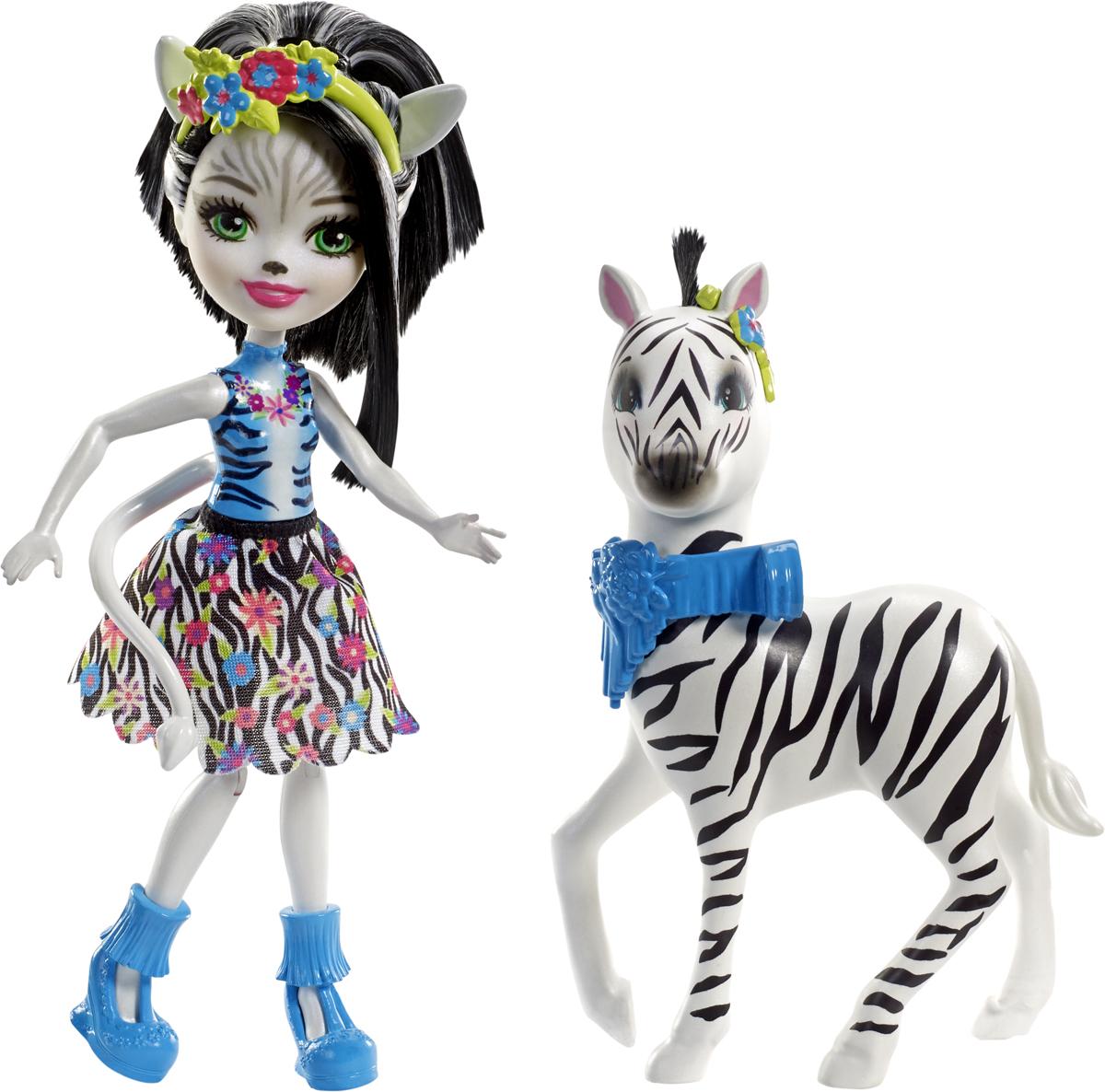 Enchantimals Игровой набор с куклой Zelena Zebra & Hoofette enchantimals пазл 64 магнитик фелисити лис и флик 03554