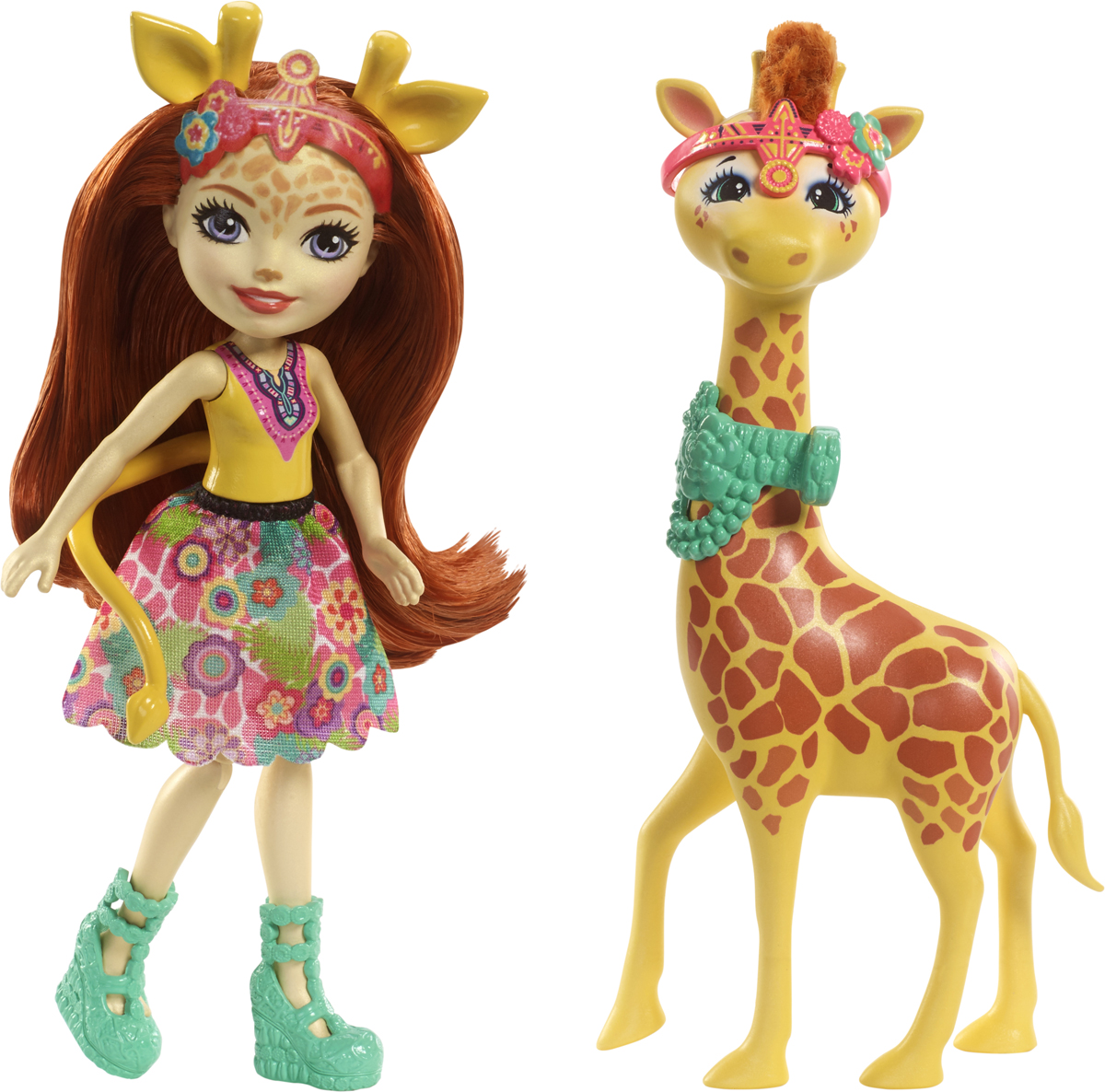 Enchantimals Игровой набор с куклой Gillian Giraffe & Pawl игровой набор enchantimals фургончик мороженого прины пингвины