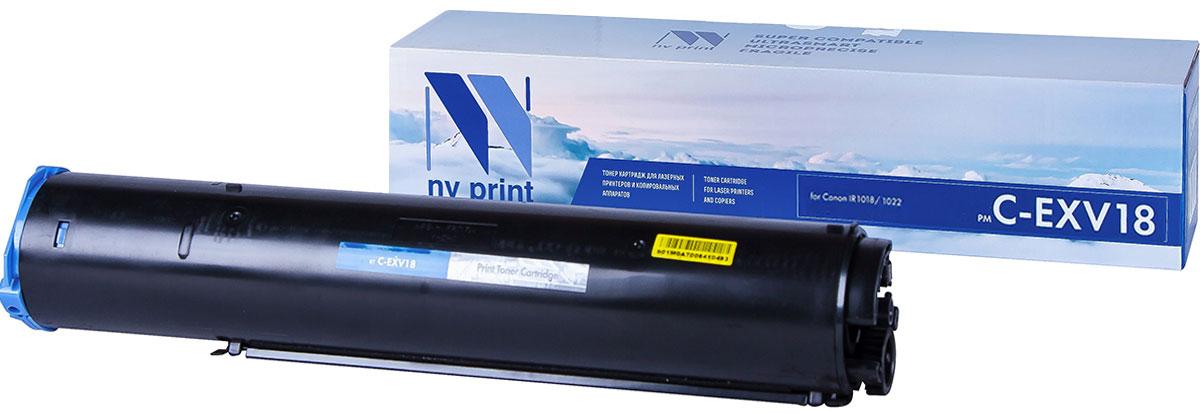 NV Print CEXV18, Black тонер-туба для Canon IR1018/1022 картридж для принтера nv print canon ep 22 black
