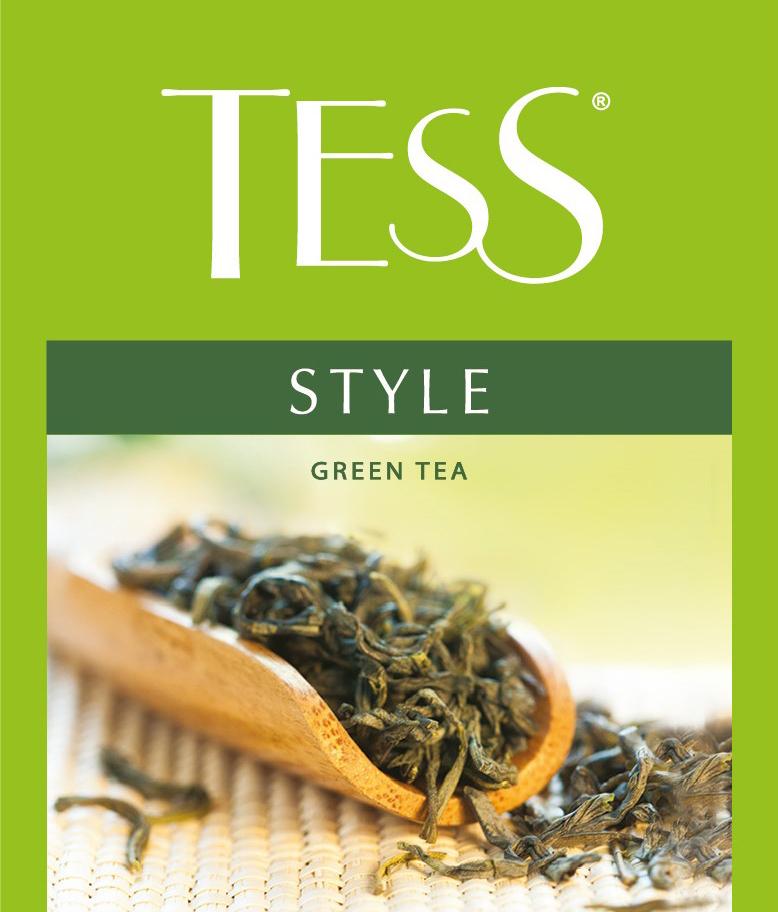 Tess Style зеленый чай в пакетиках, 100 шт tess для сегмента horeca pleasure плэжа