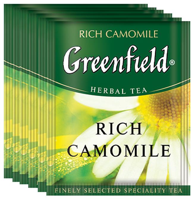 Greenfield Rich Camomile травяной чай в пакетиках, 100 шт greenfield classic breakfast черный листовой чай 200 г