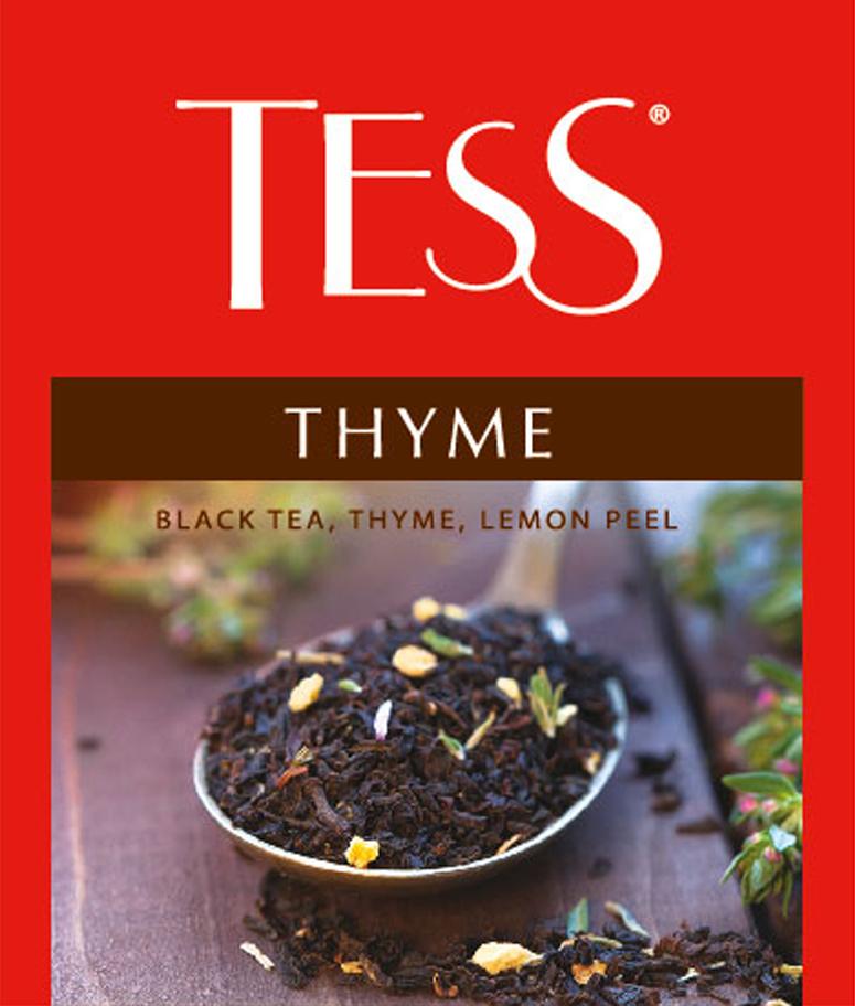 Tess Thyme черный чай в пакетиках, 100 шт tess для сегмента horeca pleasure плэжа