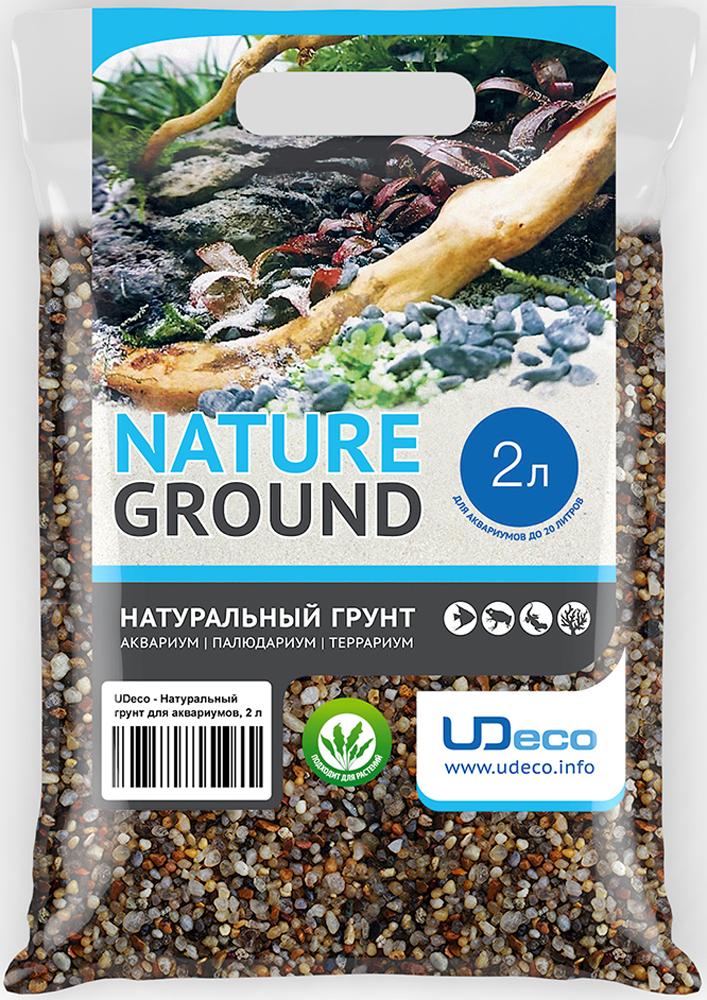 Грунт для аквариума UDeco Янтарный гравий, натуральный, 2-5 мм, 2 л грунт для аквариума udeco коралловая крошка натуральный 11 30 мм 2 л