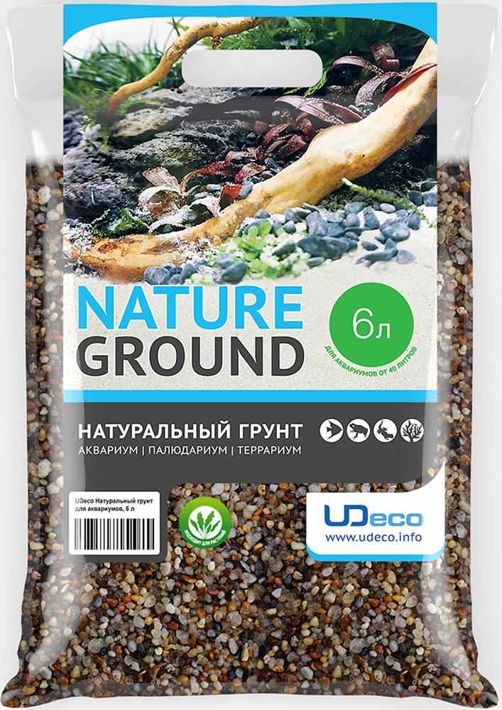 Грунт для аквариума UDeco Янтарный гравий натуральный 2-5 мм 6 л