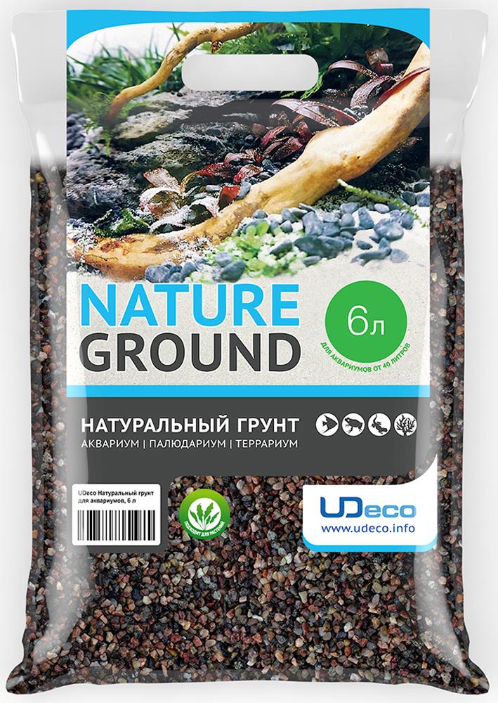 Грунт для аквариума UDeco Коричневый гравий, натуральный, 2,5-5 мм, 6 л грунт для аквариума udeco темный гравий натуральный 6 9 мм 6 л